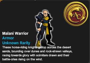 Malani Warrior Armor,500 ACs.