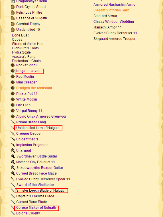 how to get to nulgath in tercessuinotlim